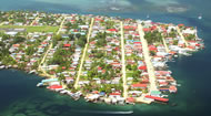 Bocas del Toro, Panamoramic View of Town